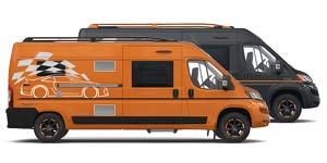 Campingbus Adria Twin GIT  in Orange oder Schwarz