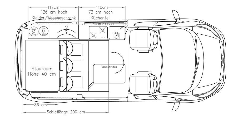 Campingbus Ford Transit Custom Triostyle