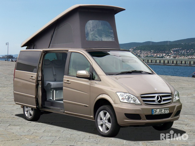 reimo campingbusse und wohnmobile auf mercedes vito viano und vaneo. Black Bedroom Furniture Sets. Home Design Ideas