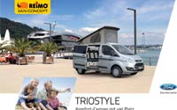 Download brochure on REIMO TrioStyle camper van based on Ford Transit Custom [PDF file]