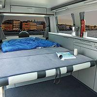 Campingbus Reimo CityVan mit extragroßem Bett