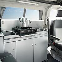Campingbus Reimo CityVan mit Kompakt-Campingküche
