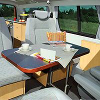 Campingbus Reimo MultiStyle - Sitzgruppe aus Einzelsitzen