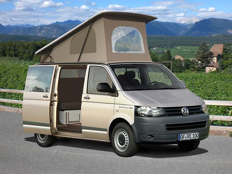 Reimo SportCamper Fun auf Volkswagen Transporter 5 - Klick aufs Bild