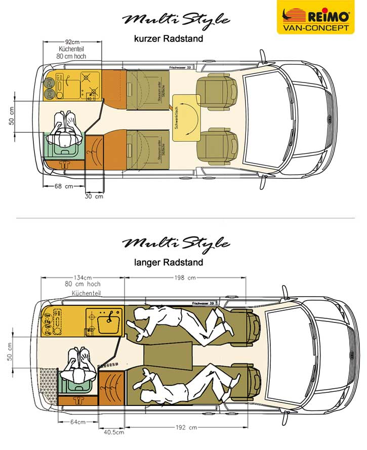 Campingbus Reimo Multistyle Auf Basis Des Neuen Volkswagen Transporter