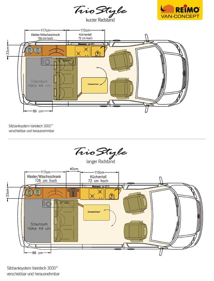 campingbus reimo triostyle auf basis des neuen volkswagen transporter