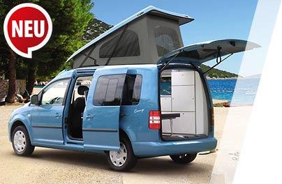 reimo minicamper auf verschiedenen minivan modellen flott flexibel und trendy. Black Bedroom Furniture Sets. Home Design Ideas