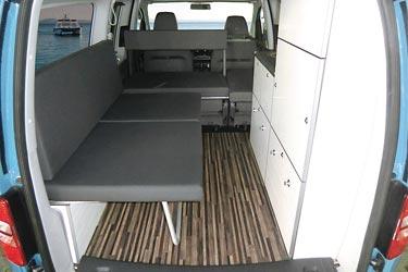 Camp Maxi auf Volkswagen Caddy - Einzelbett oder Relaxliege