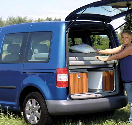 minicamper reimo camp auf vw caddy maxi. Black Bedroom Furniture Sets. Home Design Ideas