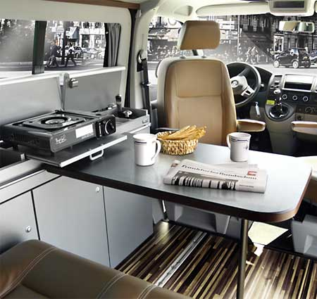 campingbus ausbau cityvan f r vw t5 vw t6 kurzer radstand. Black Bedroom Furniture Sets. Home Design Ideas