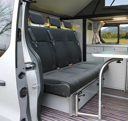 campingbus ausbau triostyle f r renault trafic opel vivaro ab 2014. Black Bedroom Furniture Sets. Home Design Ideas