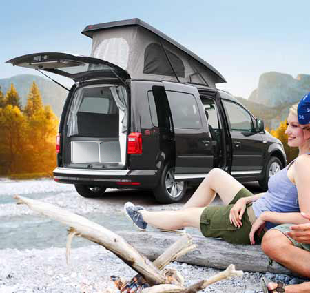 camper reimo camp auf vw caddy maxi langer radstand. Black Bedroom Furniture Sets. Home Design Ideas