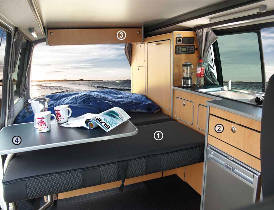 Reimo Campingbus, Campingzubehör, Campingbus-Ausbau