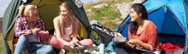 Tents, camping equipment: camping stoves, sleeping bags, sleeping pads, camping lamps, outdoor products