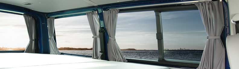 Curtains for VW T5, T4 and other Campervans