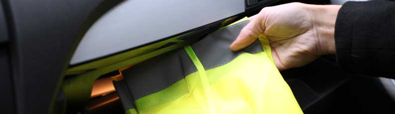 High Visibility Vest, Warning Triangle and First-Aid Kit for Motorhome, Campervan and Caravan