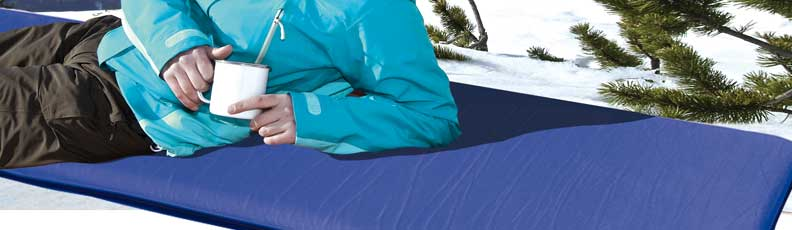 Camping mat, sleeping mat, self inflating camping mat