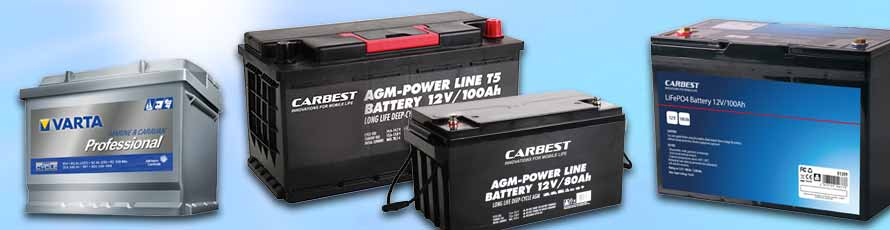 Solar Batteries, Leisure Batteries