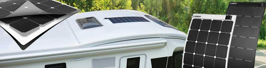 Flexible Solar Panels, walk-on solar cells for campervan, motorhome, caravan and boat