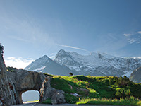Rent a motorhome and admire majestic mountains in Switzerland