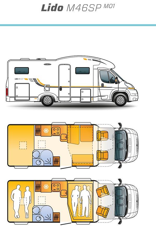 Wohnmobil Sun Living Lido M - das attraktive Cross-Over Mobil