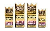 Adria Wohnmobile - vielfach mit dem König Kunde Award ausgezeichnet