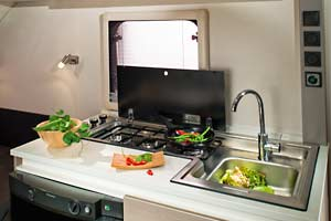 Adria Action 361 PD - Küche Detailansicht