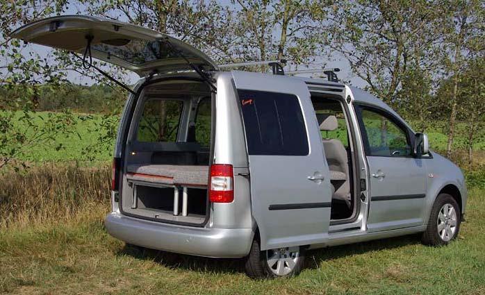 reimo vw caddy camp das mini wohnmobil weitere bilder. Black Bedroom Furniture Sets. Home Design Ideas